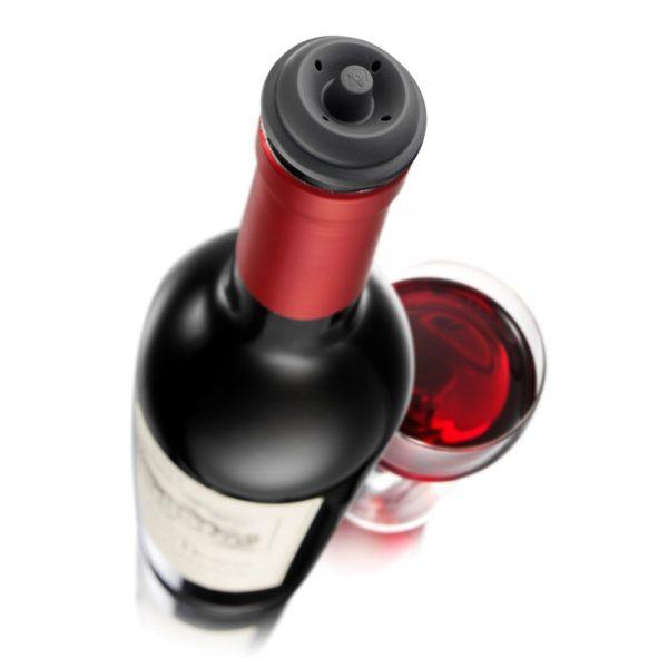 Vacu Vin Vacuum Wine Stopper Grey Set of 2
