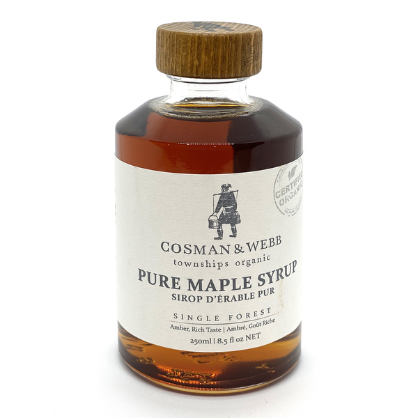 Organic Maple Syrup, Amber Rich Taste 250 ML