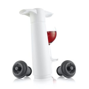 Vacu Vin Wine Saver White Gift Pack (1 Pump, 2 Wine Stoppers)
