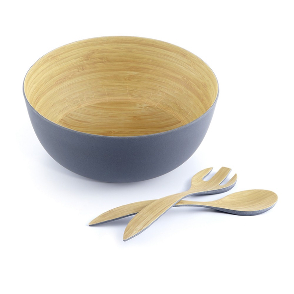 Bamboo Grey 3 Piece Salad Set